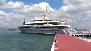 Superyacht Azteca, in Gibraltar