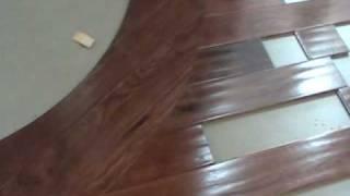 Wood Radius Cut Into A Wood Floor