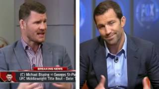 annoyed michael bisping on luke rockhold calling george st pierre vs bisping fight a chaos