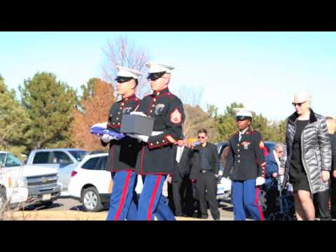 Funeral of Marine Sgt Max Brown