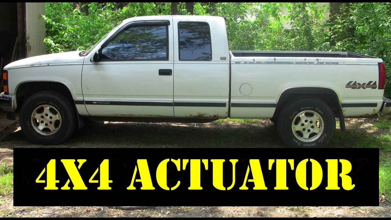 maxresdefault 1995 chevy k1500 4x4 thermal to motorized actuator upgrade youtube chevy 4wd actuator upgrade wiring diagram at reclaimingppi.co