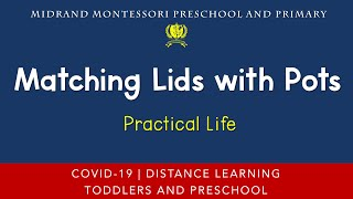 Montessori Practical Life Presentation - Matching Lids with Pots