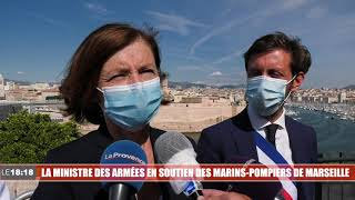 Marseille : la ministre des Armées Florence Parly au soutien des marins-pompiers