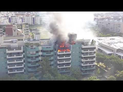 Incêndio na SQN 110 em Asa Norte Brasília 14/maio/2018 as 16:00