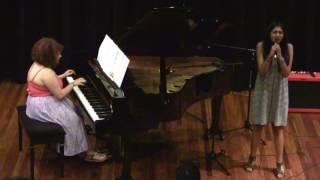 "Talia (voice) performs ""If I ain't got you"" Keys"