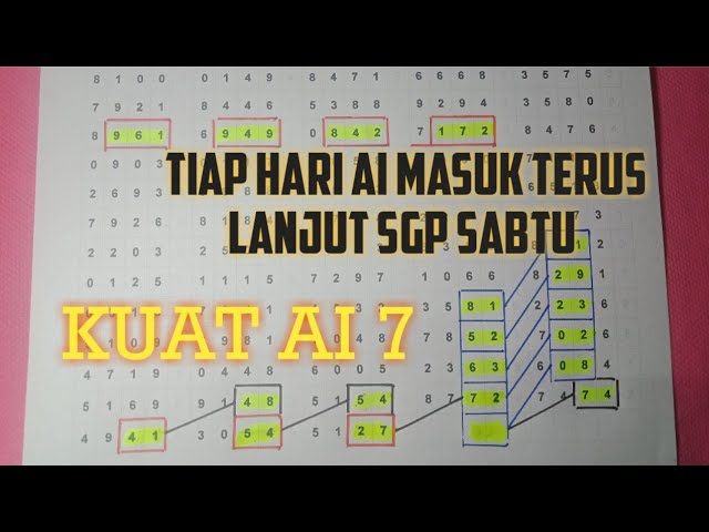 Tarikan Jitu Sgp Hari Sabtu 4 April 2020 Youtube