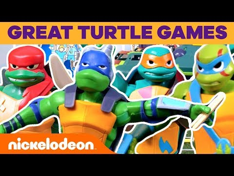 TMNT Action Figures 🐢 THE GREAT TURTLE GAMES! 🏆 | Nick