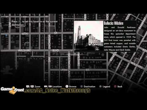 LA Noire - Star Map Achievement / Trophy Walkthrough - All 30 Landmarks - Part 2
