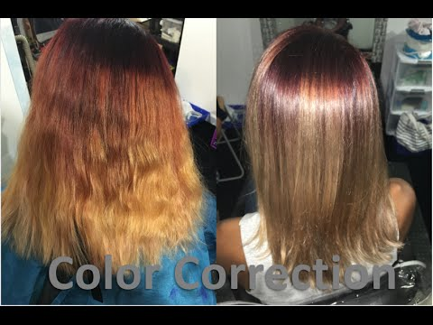 Brassy Red Hair To Beautiful Color Melt Color Correction
