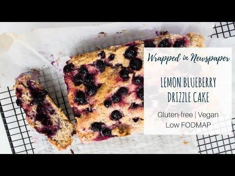Lemon Blueberry Drizzle Cake | Gluten-free, vegan