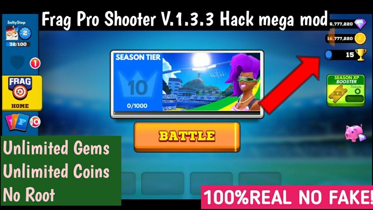 FRAG PRO SHOOTER V 1 3 3 HACK MEGA MOD APK || 100%REAL NO FAKE ! || PROOF  ADDED√√