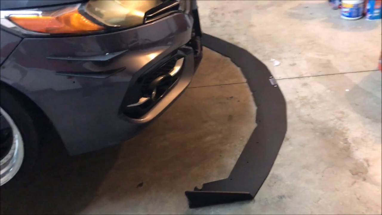 Installing front splitter/removing front bumper on 2014 Honda Civic Si - YouTube