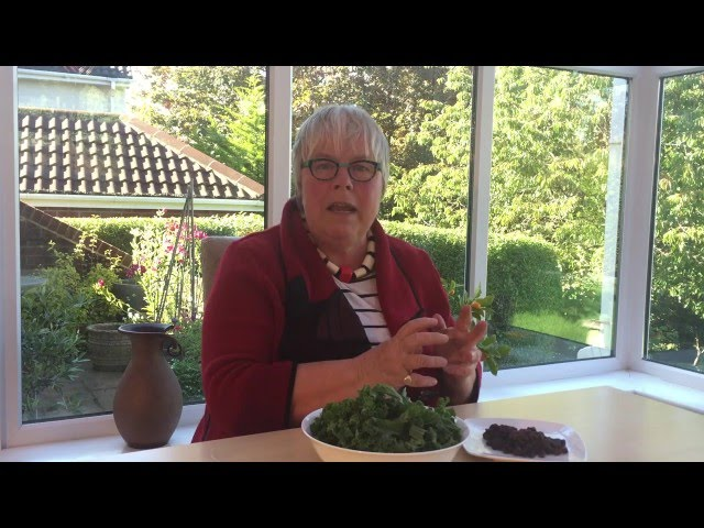 Video about cooking Kale with Raisins