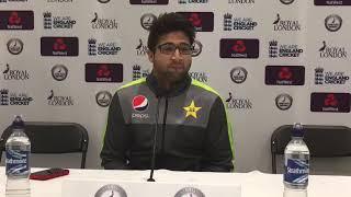 Imam Ul Haq in Press Conference in Bristol after scoring 151 runs.
