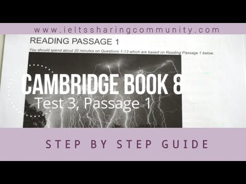 IELTS Reading Cambridge 8:Test 3- Passage 1- Step by step