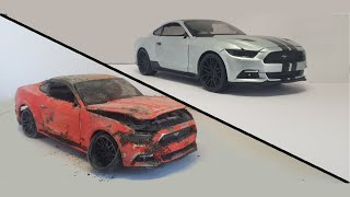 Restoration Damaged Ford Mustang GT 2015 - Old supercar Mustang 2015 Model Car Restoration