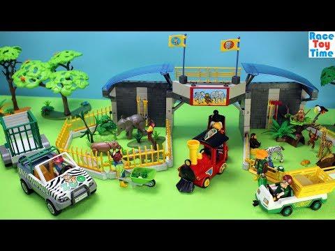 Playmobil Safari Animals Zoo Playset Build and Play - Fun Toys For Kids