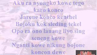Bojoku ketikung Lyrics Cover:Nella Kharisma