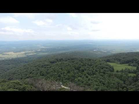 View from Skytop Tower at Mohonk Mountain House, New Paltz, New York