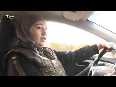 """""""Леди-таксӣ"""" дар Душанбе"""