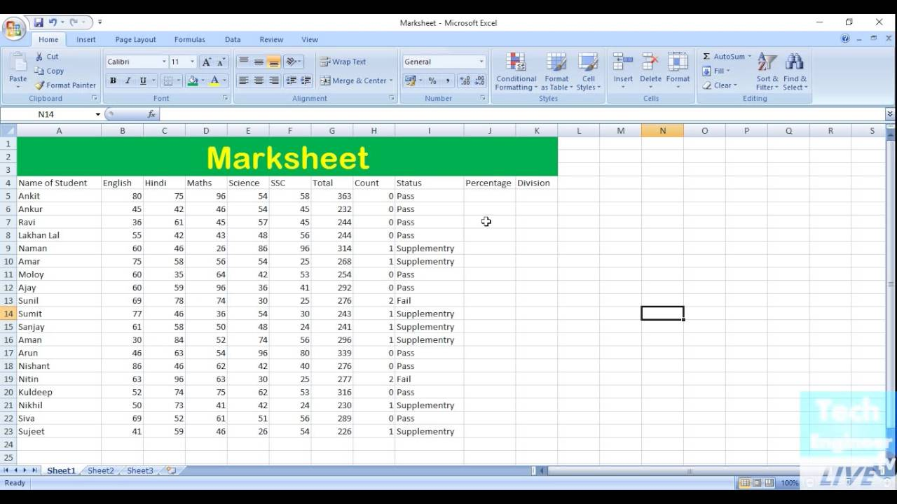 find percentage via if function in ms excel youtube