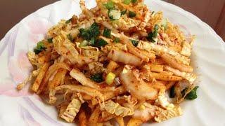#324-1 Napa Cabbage Salad - 배추무침