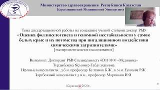 Онлайн-защита диссертации на соискание степени доктора философии (PhD) Турдыбековой Я.Г.