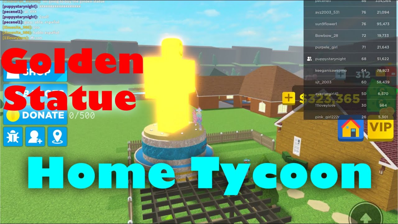 Golden Statue Home Tycoon 2 0 YouTube