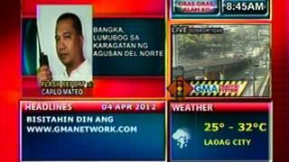DB: Bangka, lumubog sa karagatan   ng Agusan Del Norte