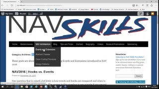Introduction to Eventing and Extensions in Dynamics NAV 2016