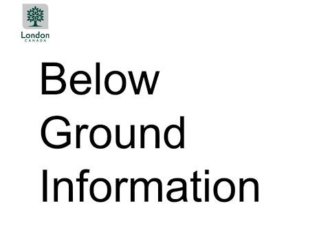 Presentation One: Below Ground Information