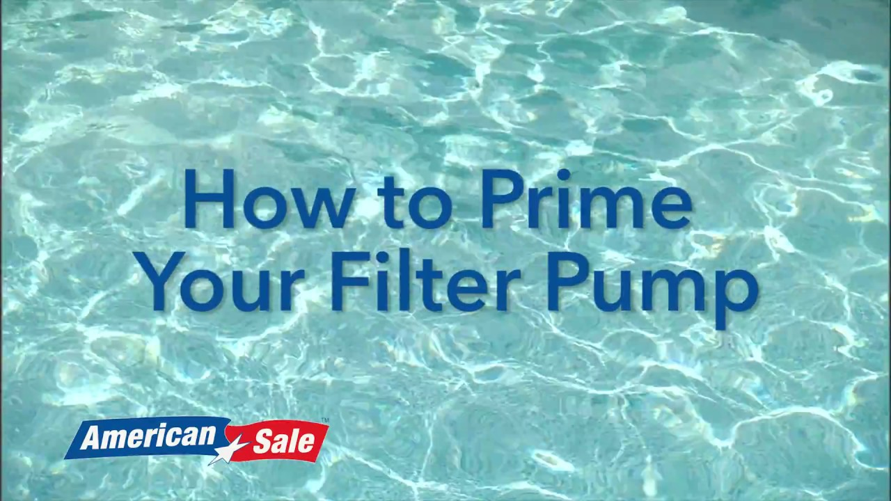 Super Opening Your Pool- How to Prime Your Filter Pump - YouTube QW01