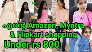 Amazon, Myntra, FlipKart clothing haul|Affordable online shopping|Dress,Jacket&tops|Asvi Malayalam