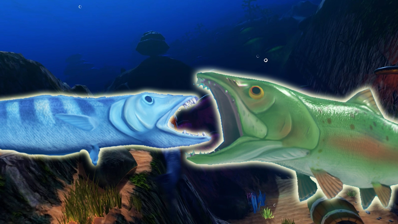 The killer salmon and barracuda ocean map update feed for Feed and grow fish