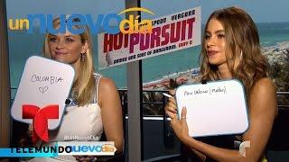 Francisco Cáceres pone a prueba a Sofía Vergara y Reese Witherspoon   Un Nuevo Día   Telemundo