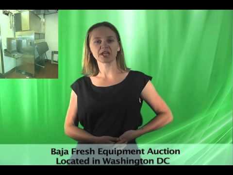 Baja Fresh Closed Restaurant Equipment Online Auction DC