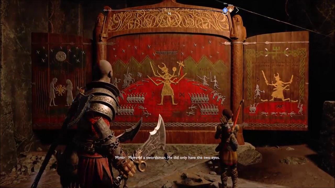 God Of War 4 Starkadr Mural Youtube