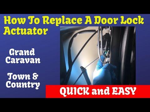 How To Change Sliding Door Lock Actuator Town & Country Grand Caravan - Detailed Instructions