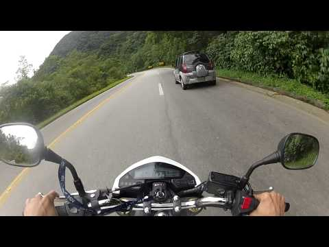 CANAL DO MUMU - HORNET X DUCATI SUBINDO A SERRA  - HONDA HORNET BRANCA ABS Travel Video