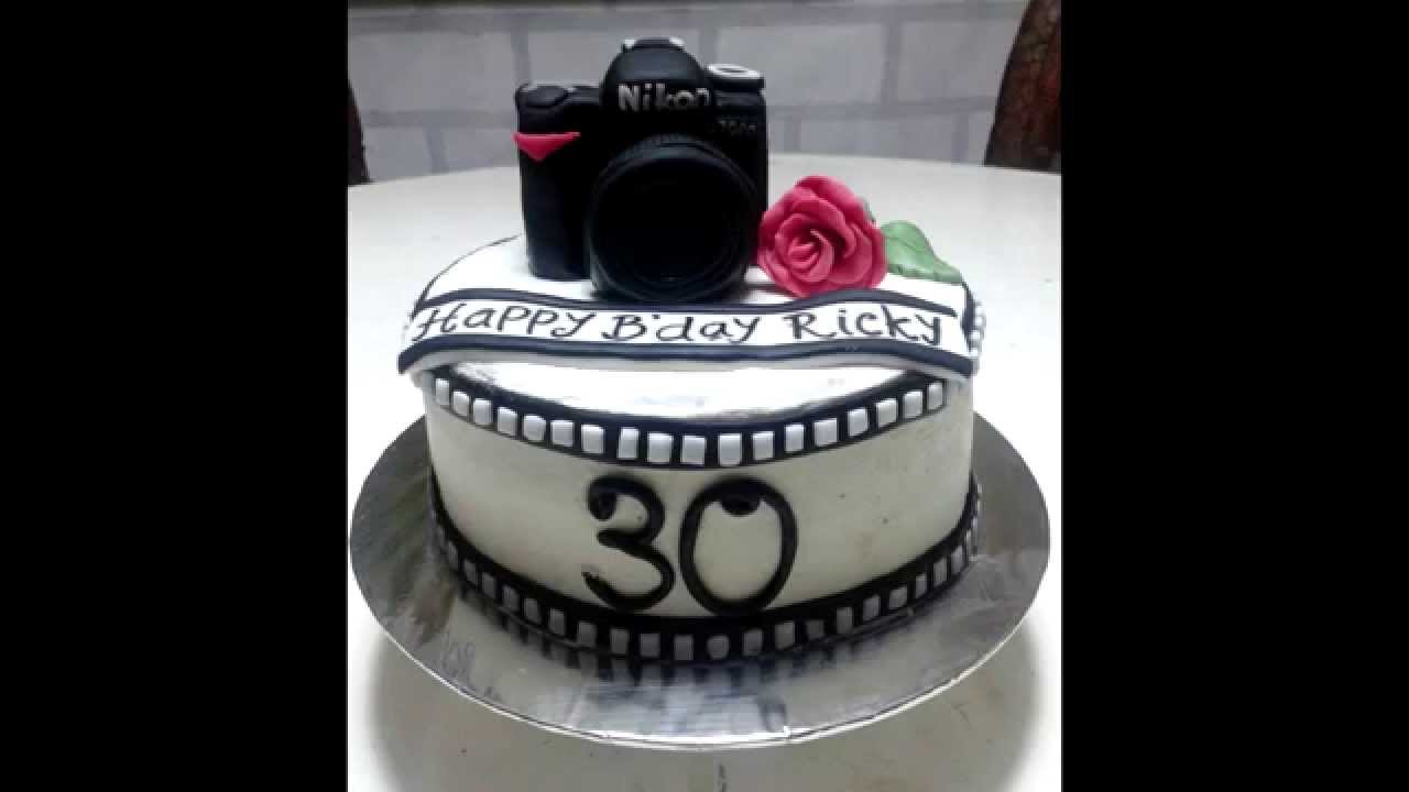 Camera topper birthday cake decoration - YouTube