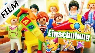 Playmobil Film Deutsch JULIANS EINSCHULUNG 2018! 1. SCHULTAG AUF DER NEUEN GRUNDSCHULE Familie Vogel