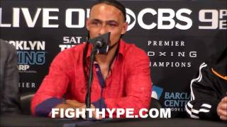 KEITH THURMAN EXPLAINS WHY HIS STOCK ROSE; SAYS HE MIGHT HAVE A GATTI-WARD RIVALRY WITH SHAWN PORTER