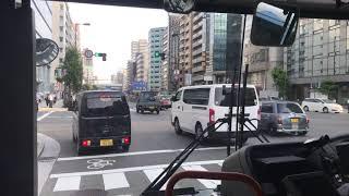 大阪シティバス 10号系統守口車庫前行天神祭迂回ルート