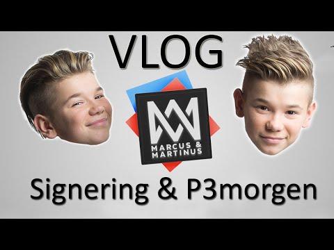 Marcus & Martinus - Signering, besøk hos P3morgen og studiojobbing