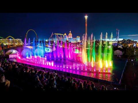 Новый год 2020 в Сочи парк, фейерверк и Олимпийские объекты с высоты птичьего полета