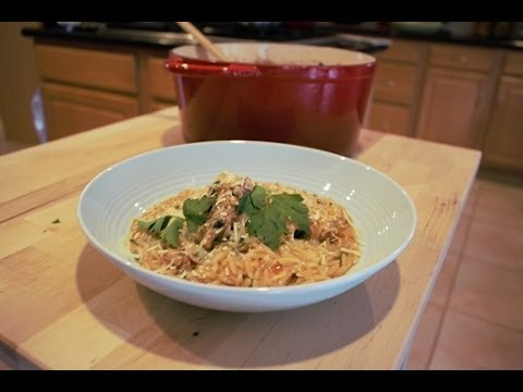 Chicken with Orzo in a light Tomato sauce (Chicken Youvetsi) Dimitras Dishes episode 6