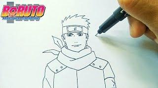 Cara menggambar Konohamaru anime Boruto cara simpel | How to draw Konohamaru sensei