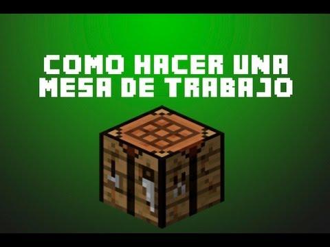 Minecraft c mo hacer una mesa de trabajo youtube for Como hacer una pileta de cemento