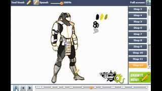 How to draw Cyrax from Mortal Kombat