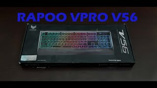 RAPOO VPRO V56 RGB Gaming Keyboard- Unboxing and Review
